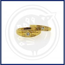 Casting Single Stone Couple Ring