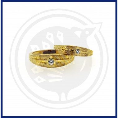 Casting Single Stone Couple Ring