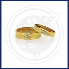 Casting Band Type Couple Ring