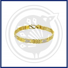 Fancy Gents Casting Zircon Bracelet