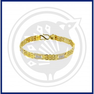 Fancy Gents Casting Zircon Bracelet