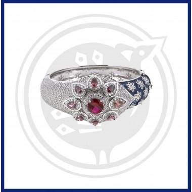 Silver Fancy Enamel Bracelet (92.5)