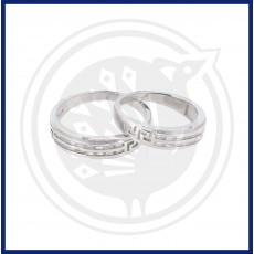 Silver Fancy Couple Ring