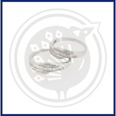 Silver Fancy Couple Ring