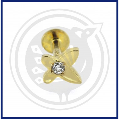 Fancy Diamond Nose Pin (18K)