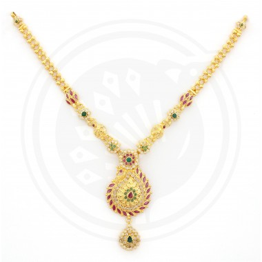 Pavanaa Designer Peacock YC Necklace