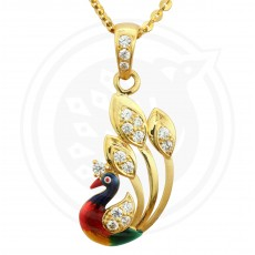 Fancy Enamel Casting Peacock pendant