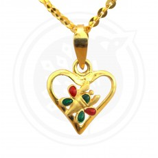 Fancy Heart-in Pendant