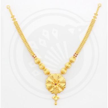 Fancy Varikkai Flower Necklace