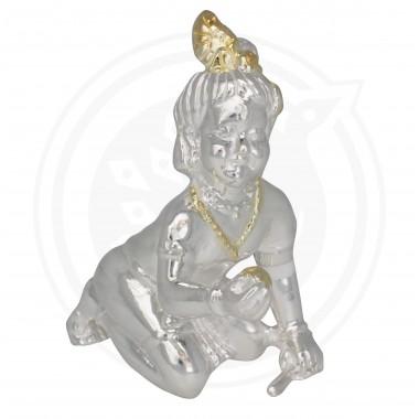 Baby Sri Krishna Silver Idol