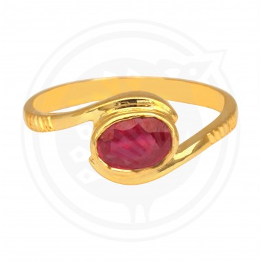 Ruby Real Stone Ladies Ring