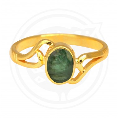 Emerald Real Stone Ladies Ring