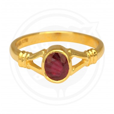 Fancy Ruby Real Stone Ladies Ring