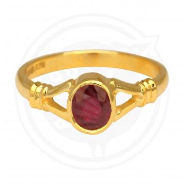 Fancy Ruby Real Stone Ladies Ring