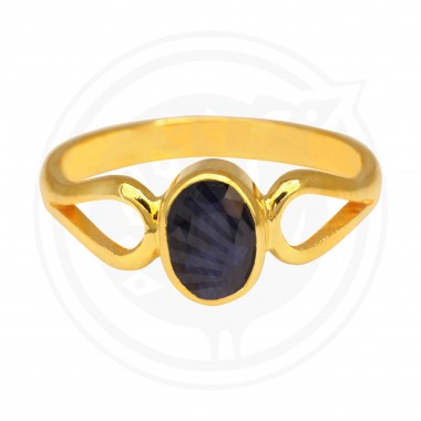 Blue Sapphire Real Stone Ladies Ring