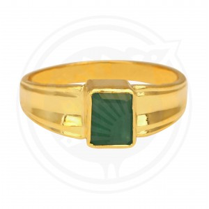 Emerald Real Stone Gents Ring