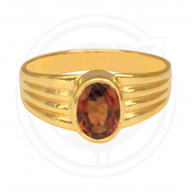 Yellow Sapphire real stone Gents Ring