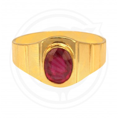 Ruby Gents Real Stone Ring