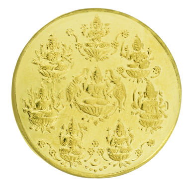 Ashtalakshmi 22k gold coin
